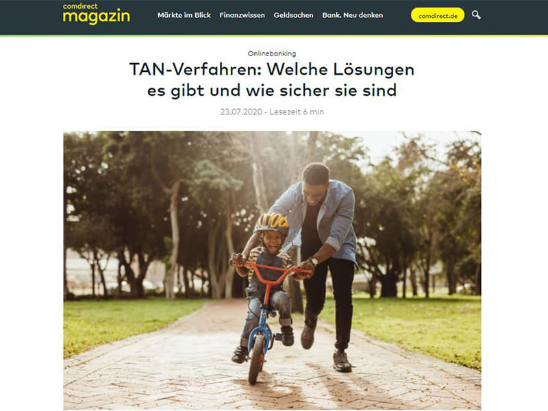 Screenshot Onlinemagazin comdirect Bank AG